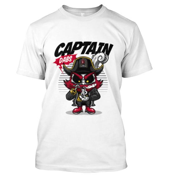 captain dabs white short sleeve
